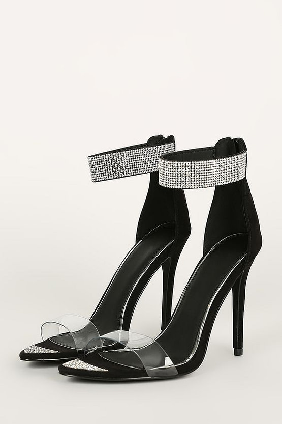 black heels with straps product image
