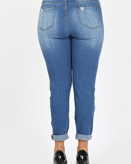 plus size distressed jeans (back)