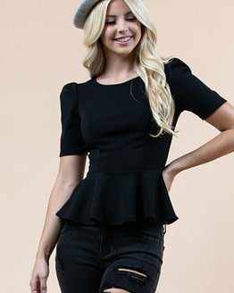 womens peplum top (front)