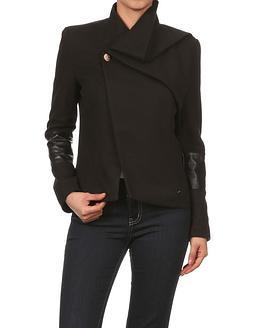 women's black peacoat jacket