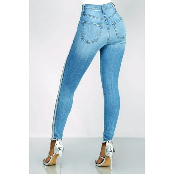 side stripe jeans (back)