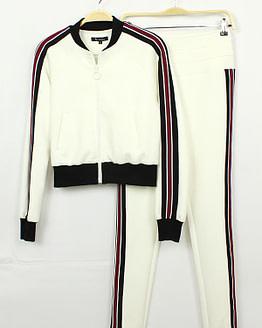 white jogger set
