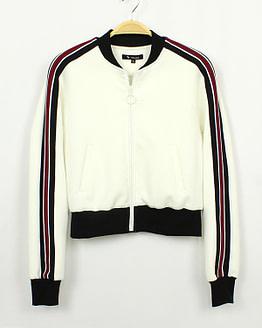 white tracksuit jacket