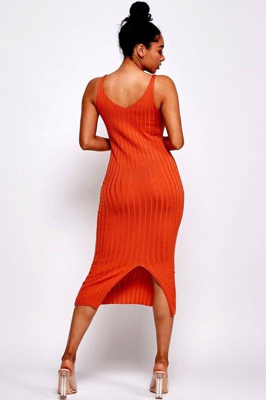 pumpkin midi dress (back)