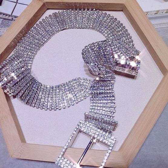 crytsal belt lying down