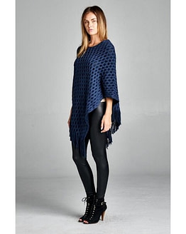 navy poncho sweater