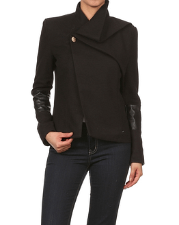 women's black peacoat jacket