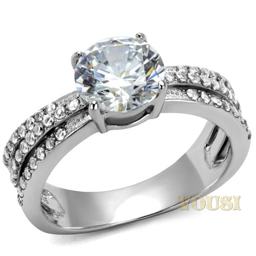 stainless steel cz ring