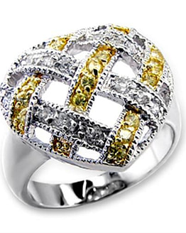 heart silver ring with cubic zirconia