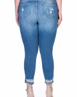 plus size skinny jeans (back)