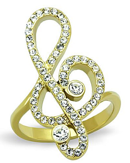music note ring gold