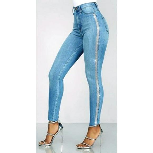 rhinestone crystal jeans